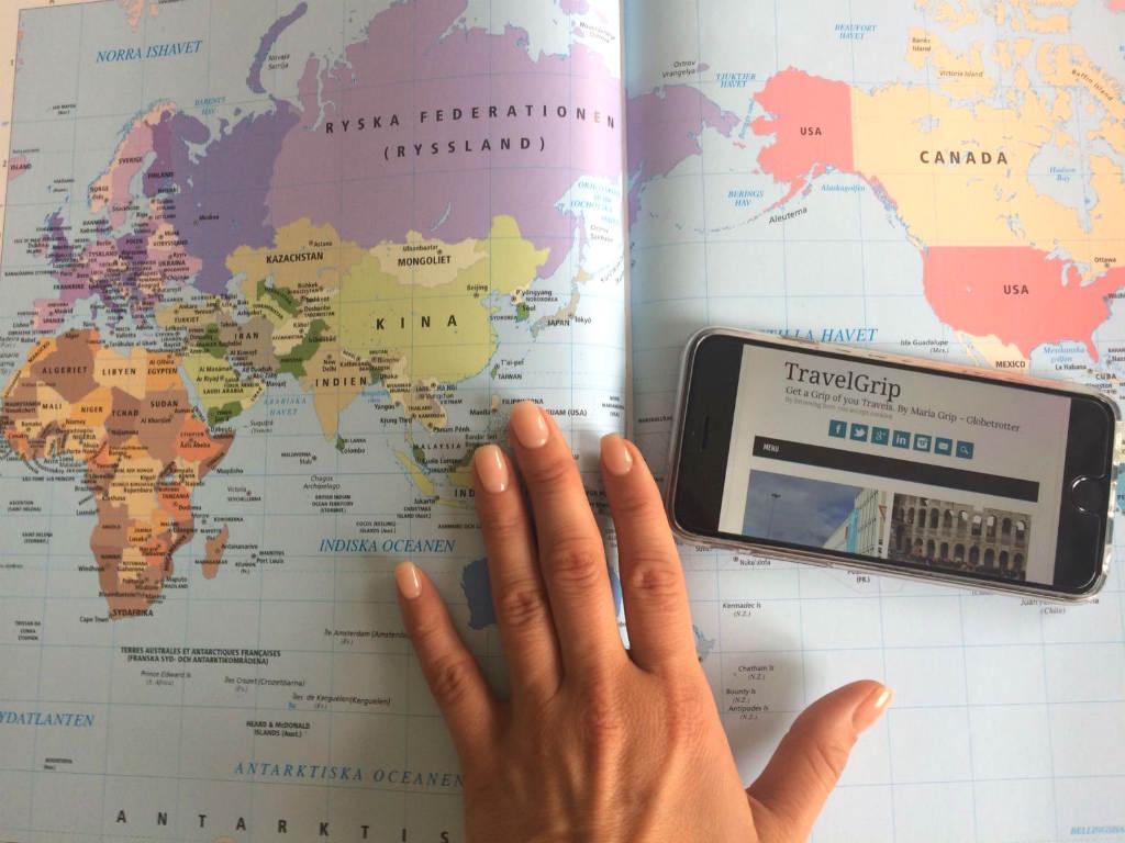 TravelGrip-världskarta