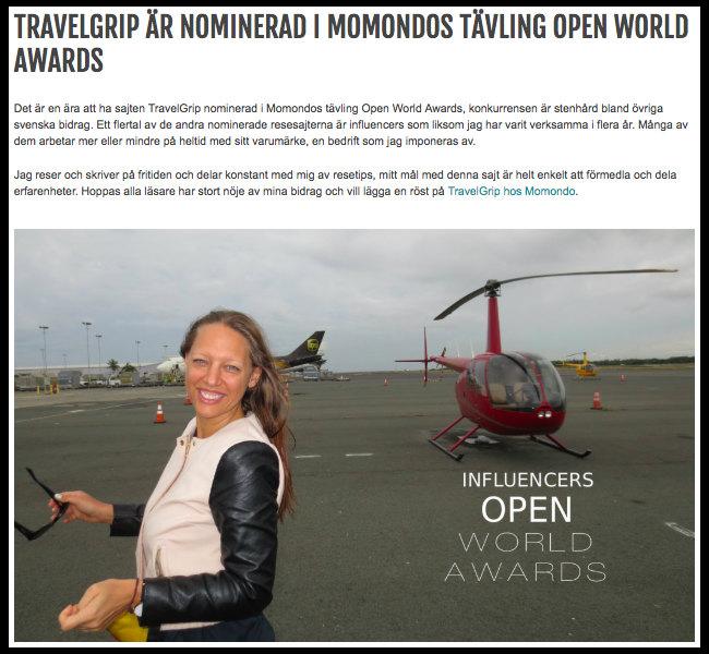 TravelGrips-nominering-i-Bloggtavling