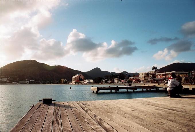Brygga i Karibien