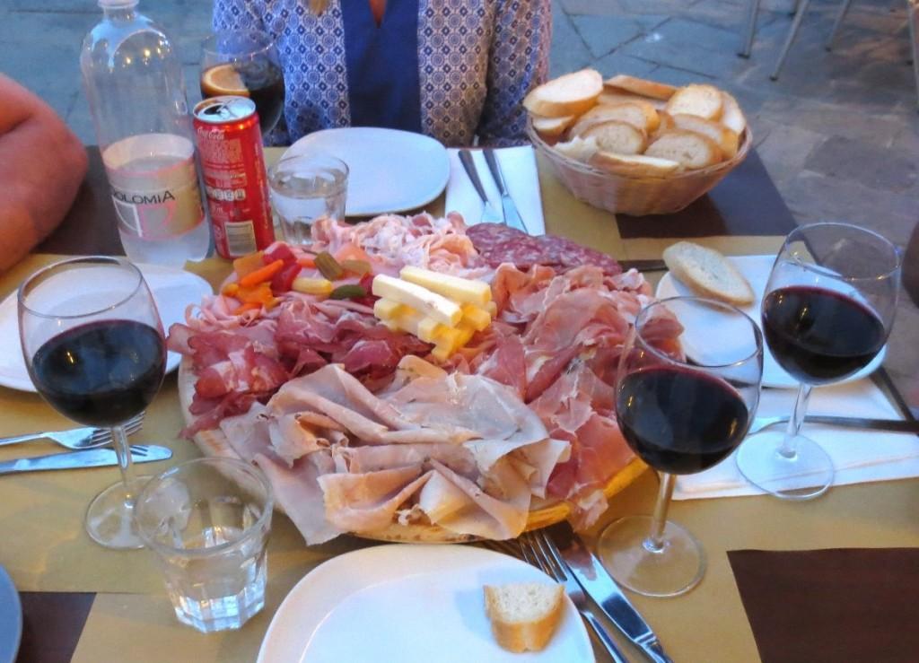 Venedig osteria bjuder på charkuterier