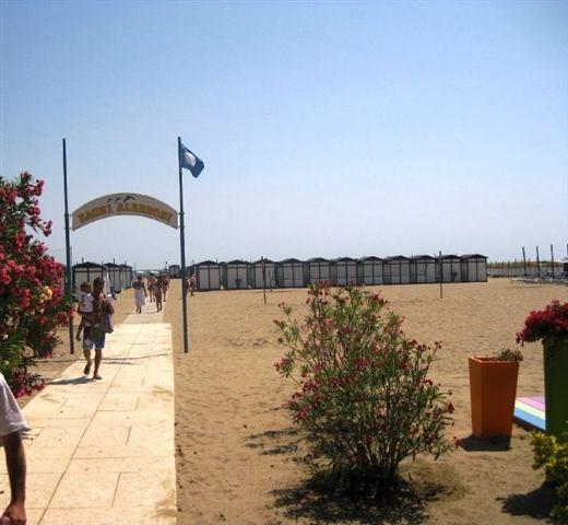 Lido strand utanför Venedig