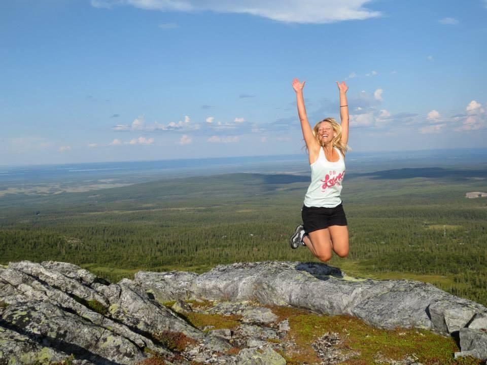 Hopp vid Gräftåvallen i Jämtland