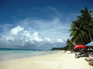 Boracay sandstrand i Filippinerna