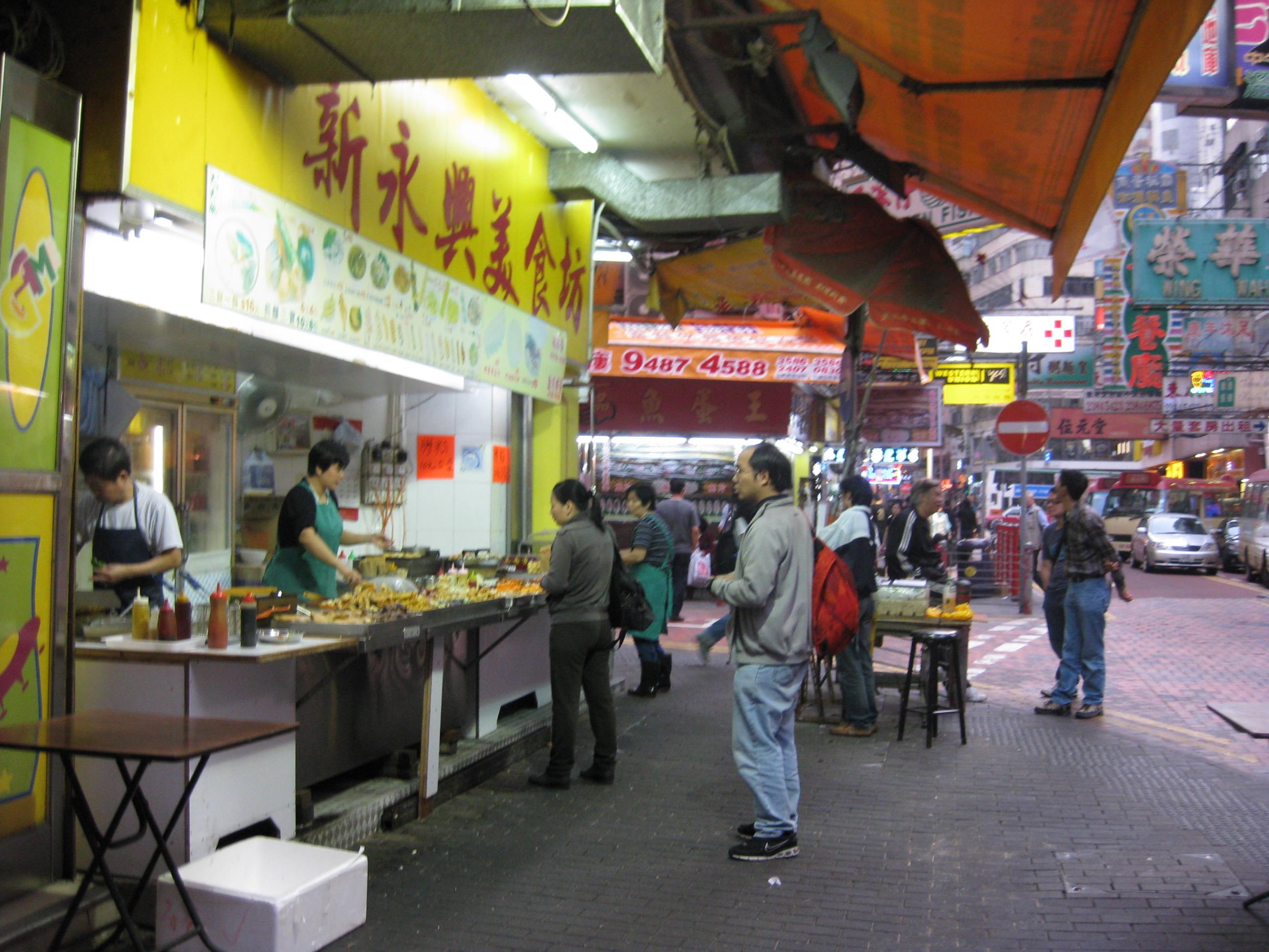 Gatustånd i Hong Kong