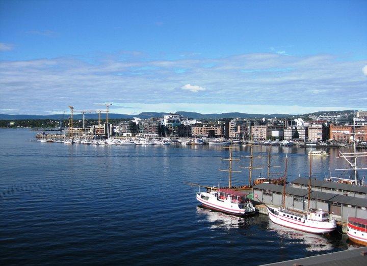 Aker Brygge i Oslo i Norge