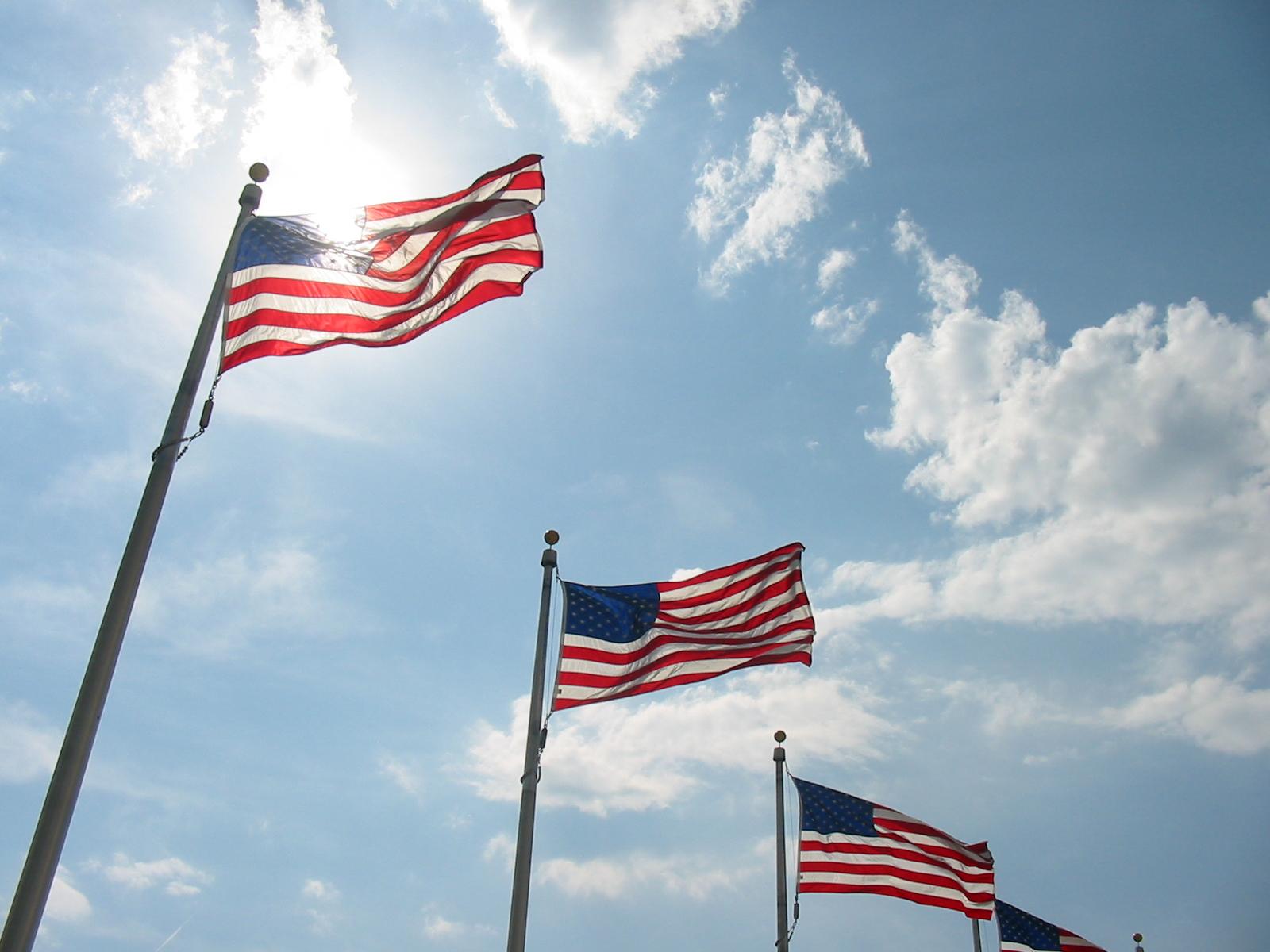 Amerikanska flaggor