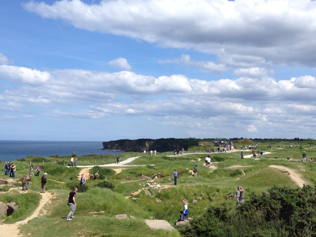 Poine du Hoc i Normandie