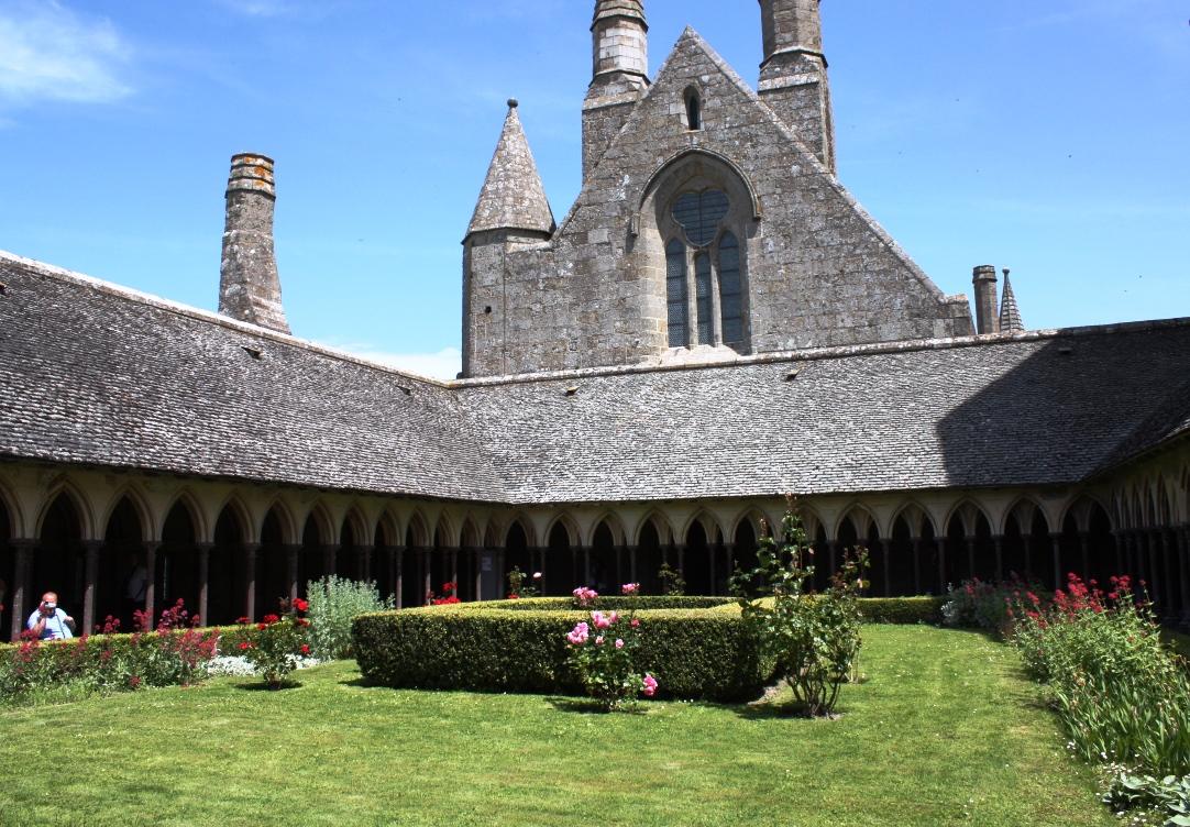 Trädgård i Mont Saint Michel