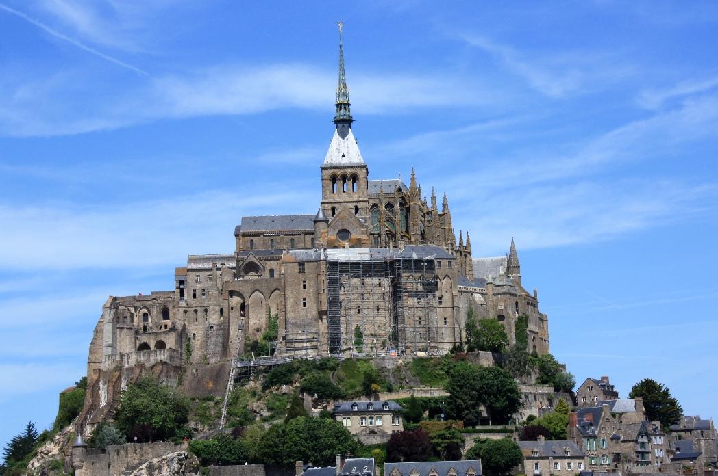 Sevärdheten Mont Saint Michel i Normandie