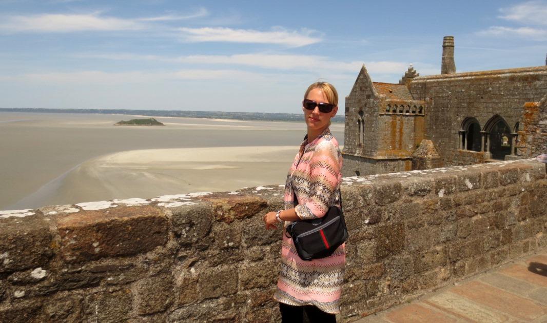 Utsikt från Mont Saint Michel