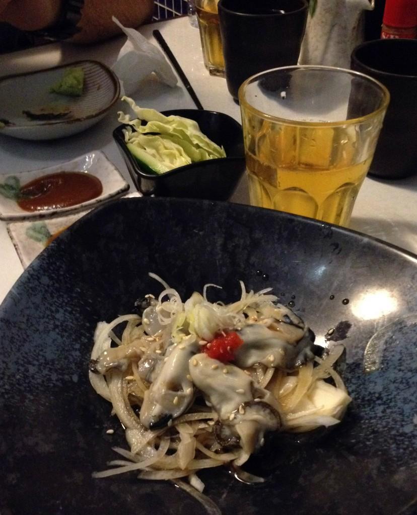 Hikawa-sushikawa-ostronsallad-hongkong-travelgrip