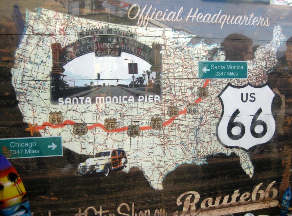 karta över route 66 En vinterdag på Santa Monica Beach   TravelGrip karta över route 66