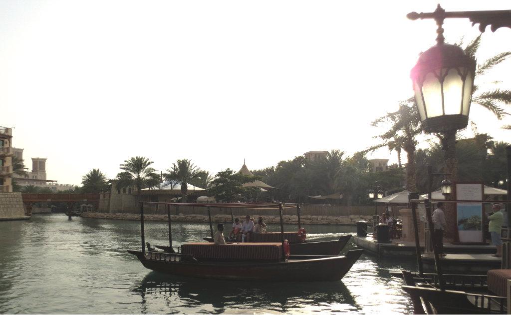 Kanal i Madinat Jumeirah i Dubai