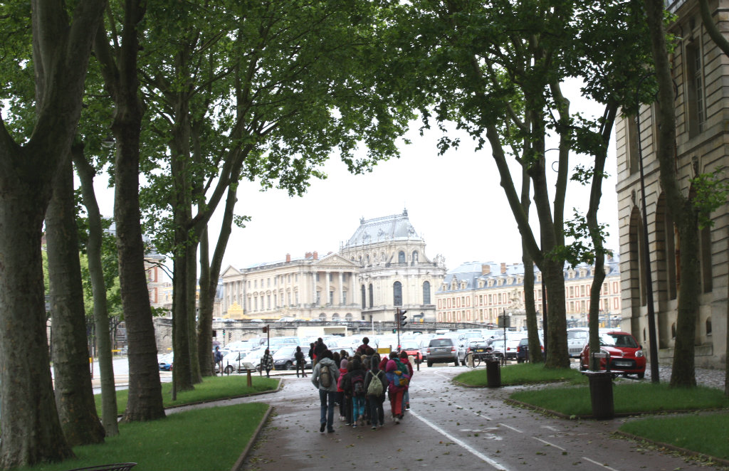Slottet Versailles i Frankrike