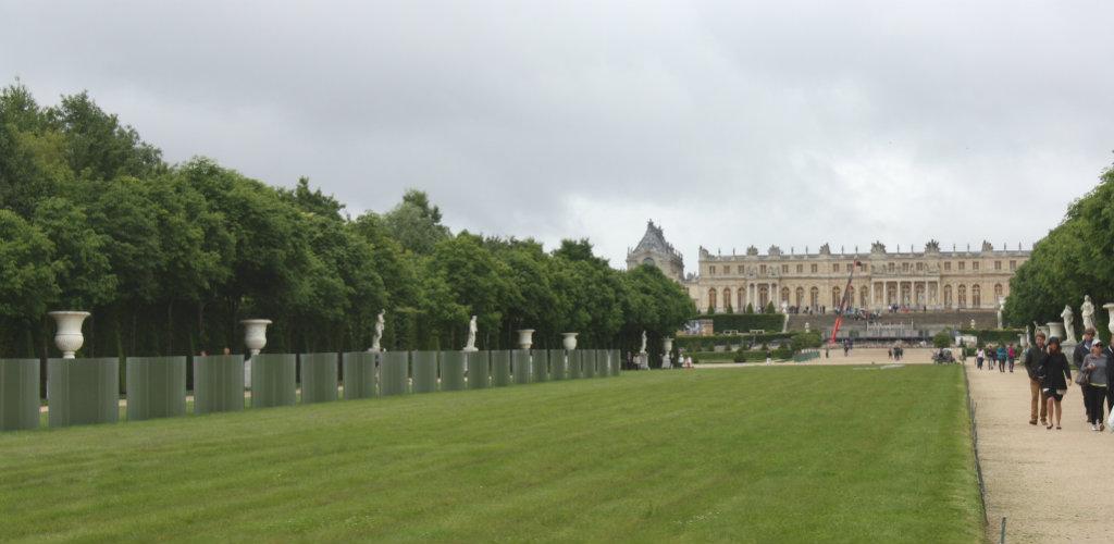 Slottsträdgården i Versailles i Frankrike