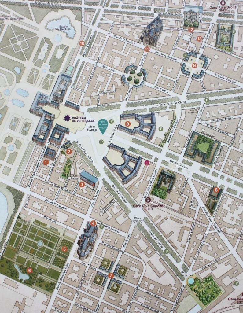 Karta över Verasilles