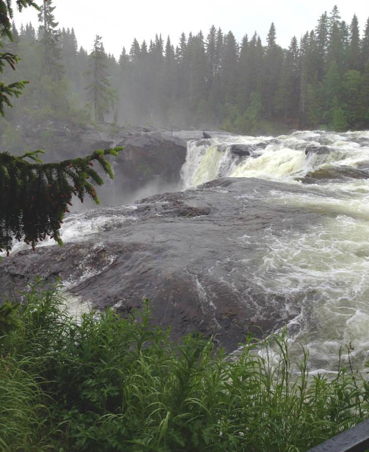 Vattenfallet Ristafallet i Jämtland