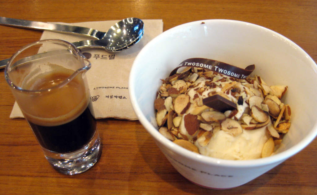 Espresso och glass i Seoul