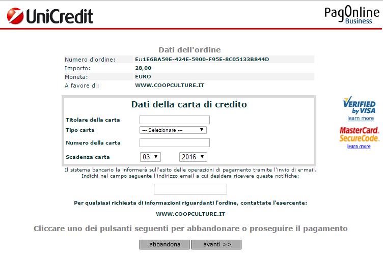 kortinformation för betalning