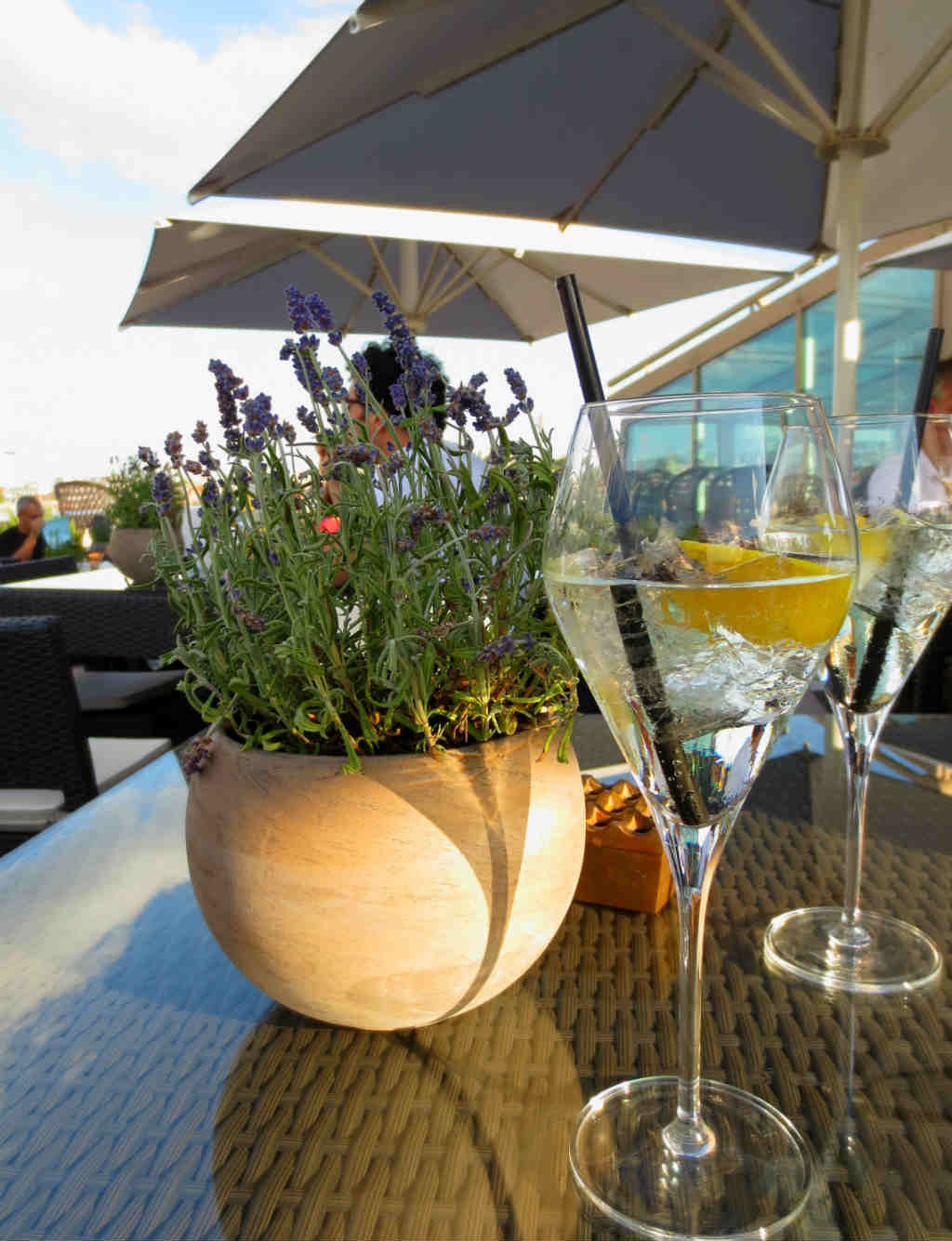 Spritz-at-Ritz-rooftop-bar-Vienna-LadyTravelGuide