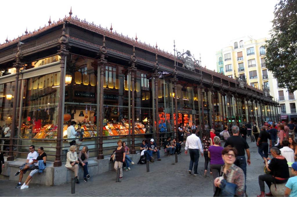 San Miguel matmarknad i Madrid