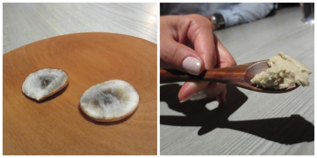 Rå jordärtskocka och handpiskad ensilage glass