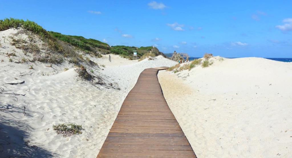 Sköna sandstränder i norra Sardinien