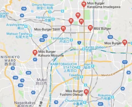 Snabbmatsstället MOS i Kyoto