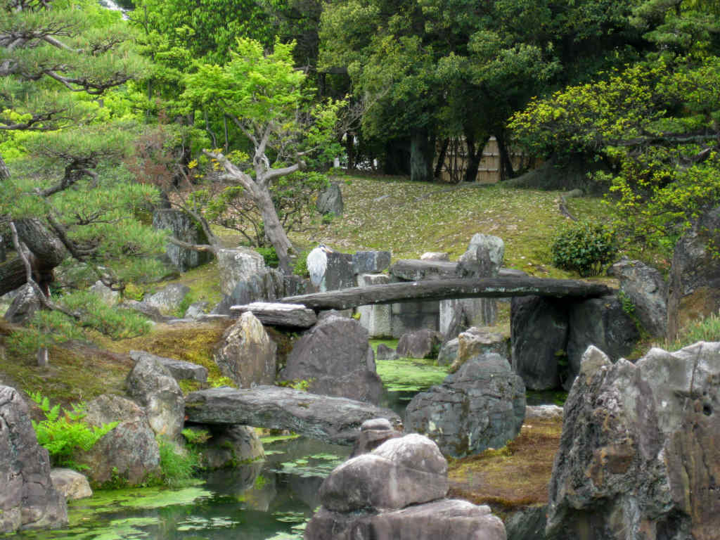 Slottsträdgården i Nijō Castle