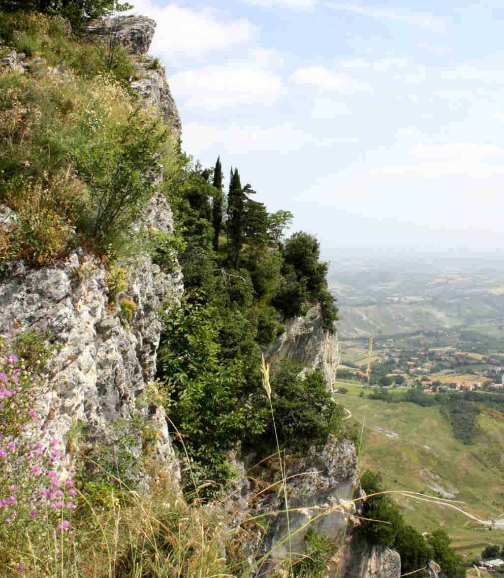 Berget är Titano i San marino