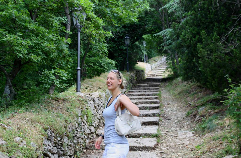TravelGrip på Berget Titano i San marino