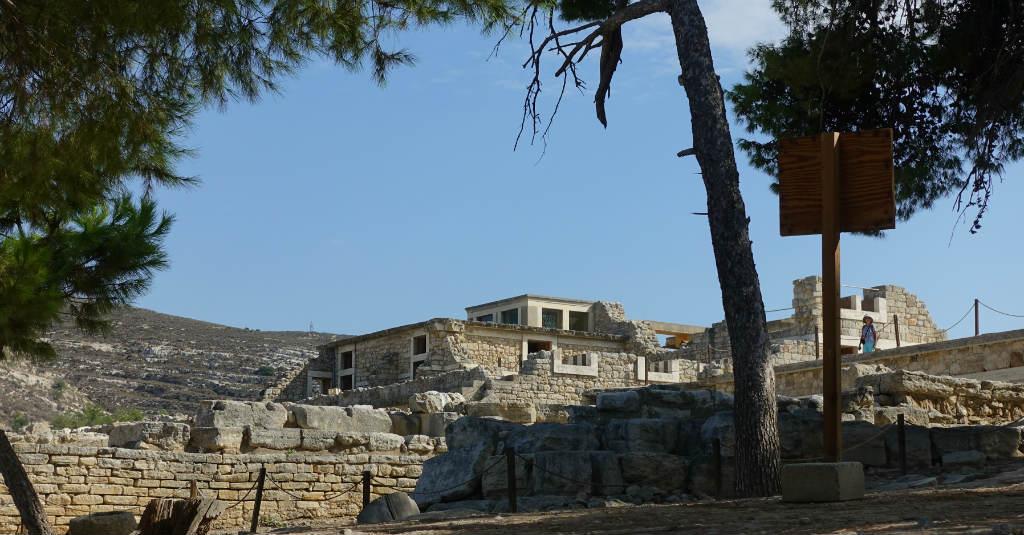 palatsområdet Knossos på Kreta