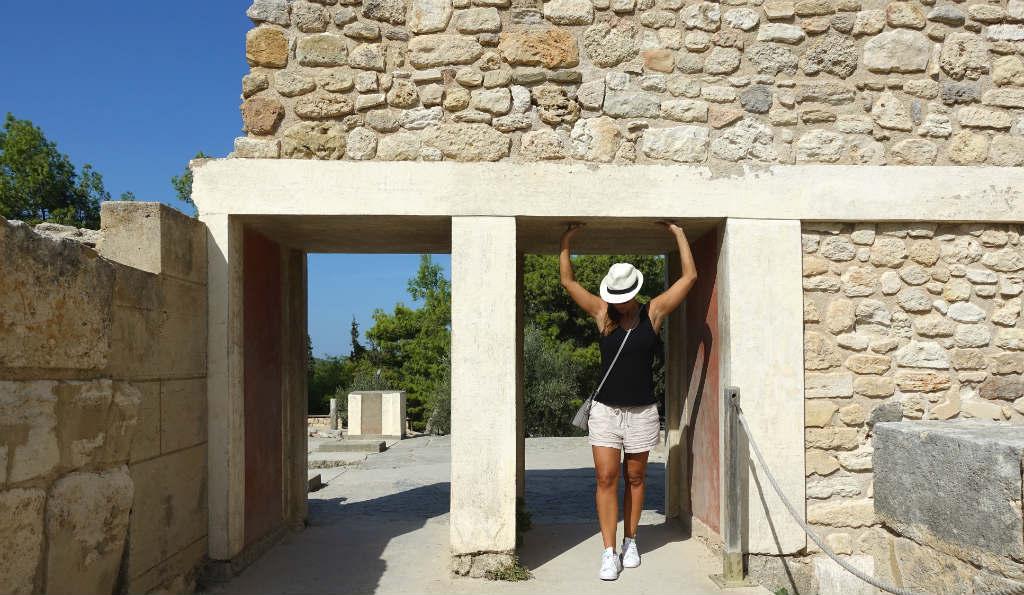 TravelGrip i palatsområdet Knossos på Kreta