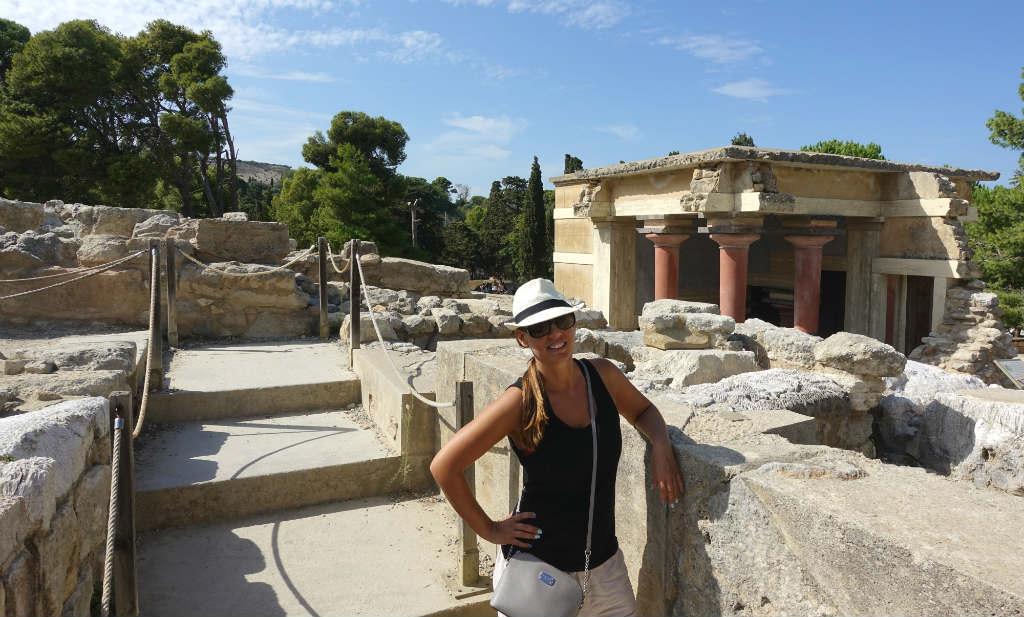 TravelGrip besöker palatsområdet Knossos på Kreta
