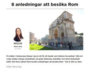 Läs om Rom på Gazzine